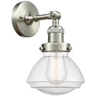 Innovations Lighting 203-SN-G324 Olean 1 Light 7 inch Brushed Satin Nickel Sconce Wall Light Franklin Restoration