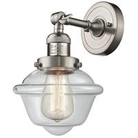 Innovations Lighting 203-SN-G532-LED Small Oxford LED 8 inch Brushed Satin Nickel Sconce Wall Light Franklin Restoration