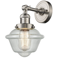 Innovations Lighting 203-SN-G534-LED Small Oxford LED 8 inch Brushed Satin Nickel Sconce Wall Light