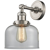 Innovations Lighting 203-SN-G72-LED Large Bell LED 8 inch Brushed Satin Nickel Sconce Wall Light