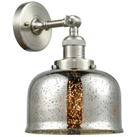 Innovations Lighting 203-SN-G78-LED Large Bell LED 8 inch Brushed Satin Nickel Sconce Wall Light