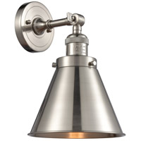 Innovations Lighting 203-SN-M13-SN Appalachian 1 Light 8 inch Brushed Satin Nickel Sconce Wall Light Franklin Restoration
