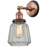 Innovations Lighting 203BP-ACBK-G142 Chatham 1 Light 6 inch Antique Copper Sconce Wall Light
