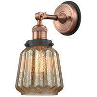 Innovations Lighting 203BP-ACBK-G146 Chatham 1 Light 6 inch Antique Copper Sconce Wall Light
