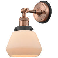 Innovations Lighting 203BP-ACBK-G171 Fulton 1 Light 7 inch Antique Copper Sconce Wall Light