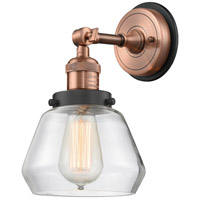 Innovations Lighting 203BP-ACBK-G172 Fulton 1 Light 7 inch Antique Copper Sconce Wall Light