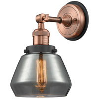 Innovations Lighting 203BP-ACBK-G173 Fulton 1 Light 7 inch Antique Copper Sconce Wall Light