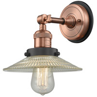Innovations Lighting 203BP-ACBK-G2 Halophane 1 Light 9 inch Antique Copper Sconce Wall Light