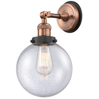 Innovations Lighting 203BP-ACBK-G204-8 Large Beacon 1 Light 8 inch Antique Copper Sconce Wall Light