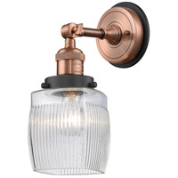 Innovations Lighting 203BP-ACBK-G302 Colton 1 Light 6 inch Antique Copper Sconce Wall Light