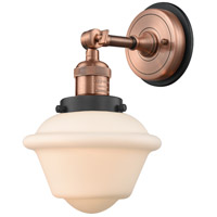Innovations Lighting 203BP-ACBK-G531 Small Oxford 1 Light 8 inch Antique Copper Sconce Wall Light