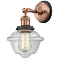 Innovations Lighting 203BP-ACBK-G532 Small Oxford 1 Light 8 inch Antique Copper Sconce Wall Light