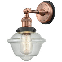 Innovations Lighting 203BP-ACBK-G534 Small Oxford 1 Light 8 inch Antique Copper Sconce Wall Light