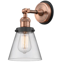Innovations Lighting 203BP-ACBK-G62 Small Cone 1 Light 6 inch Antique Copper Sconce Wall Light
