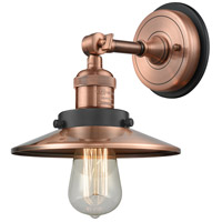 Innovations Lighting 203BP-ACBK-M3-AC Railroad 1 Light 8 inch Antique Copper Sconce Wall Light