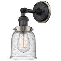 Innovations Lighting 203BP-BKSN-G54 Small Bell 1 Light 5 inch Matte Black Sconce Wall Light