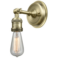 Innovations Lighting 203BP-NH-AB Bare Bulb 1 Light 5 inch Antique Brass Sconce Wall Light, Franklin Restoration photo thumbnail