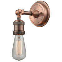 Innovations Lighting 203BP-NH-AC Bare Bulb 1 Light 5 inch Antique Copper Sconce Wall Light, Franklin Restoration