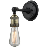 Innovations Lighting 203BP-NH-BAB Bare Bulb 1 Light 5 inch Black Antique Brass Sconce Wall Light