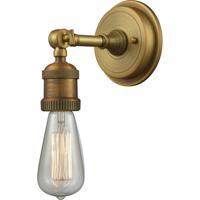 Innovations Lighting 203BP-NH-BB Bare Bulb 1 Light 5 inch Brushed Brass Sconce Wall Light Franklin Restoration