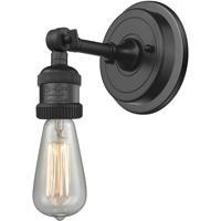 Innovations Lighting 203BP-NH-BK Bare Bulb 1 Light 5 inch Matte Black Sconce Wall Light Franklin Restoration