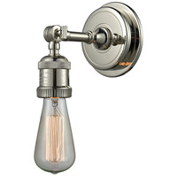 Innovations Lighting 203BP-NH-PN Bare Bulb 1 Light 5 inch Polished Nickel Sconce Wall Light, Franklin Restoration