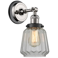 Innovations Lighting 203BP-PNBK-G142 Chatham 1 Light 6 inch Polished Nickel Sconce Wall Light