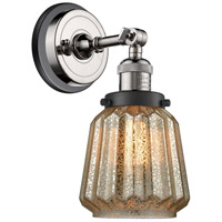 Innovations Lighting 203BP-PNBK-G146 Chatham 1 Light 6 inch Polished Nickel Sconce Wall Light