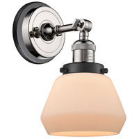 Innovations Lighting 203BP-PNBK-G171 Fulton 1 Light 7 inch Polished Nickel Sconce Wall Light