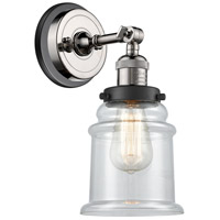 Innovations Lighting 203BP-PNBK-G182 Canton 1 Light 7 inch Polished Nickel Sconce Wall Light