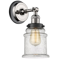 Innovations Lighting 203BP-PNBK-G184 Canton 1 Light 7 inch Polished Nickel Sconce Wall Light