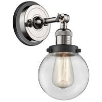 Innovations Lighting 203BP-PNBK-G202-6 Beacon 1 Light 6 inch Polished Nickel Sconce Wall Light