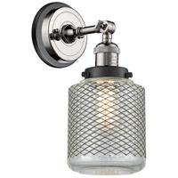 Innovations Lighting 203BP-PNBK-G262 Stanton 1 Light 6 inch Polished Nickel Sconce Wall Light