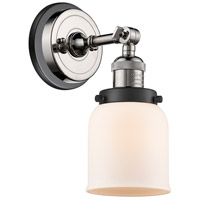 Innovations Lighting 203BP-PNBK-G51 Small Bell 1 Light 5 inch Polished Nickel Sconce Wall Light
