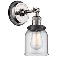 Innovations Lighting 203BP-PNBK-G52 Small Bell 1 Light 5 inch Polished Nickel Sconce Wall Light