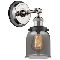 Innovations Lighting 203BP-PNBK-G53 Small Bell 1 Light 5 inch Polished Nickel Sconce Wall Light
