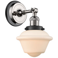 Innovations Lighting 203BP-PNBK-G531 Small Oxford 1 Light 8 inch Polished Nickel Sconce Wall Light