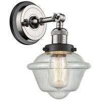 Innovations Lighting 203BP-PNBK-G534 Small Oxford 1 Light 8 inch Polished Nickel Sconce Wall Light