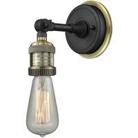 Innovations Lighting 203BPNH-BABAB Bare Bulb 1 Light 6 inch Black Antique Brass Sconce Wall Light
