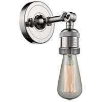 Innovations Lighting 203NH-PN Bare Bulb 1 Light 5 inch Polished Nickel Sconce Wall Light Franklin Restoration