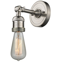 Innovations Lighting 203NH-SN-LED Bare Bulb LED 5 inch Satin Nickel Sconce Wall Light Franklin Restoration