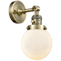 Beacon 1 Light 6 inch Antique Brass Wall Sconce Wall Light