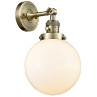 Beacon LED 8 inch Antique Brass Wall Sconce Wall Light