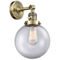 Beacon 1 Light 8 inch Antique Brass Wall Sconce Wall Light
