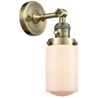 Innovations Lighting 203SW-AB-G311 Dover 1 Light 5 inch Antique Brass Sconce Wall Light Franklin Restoration