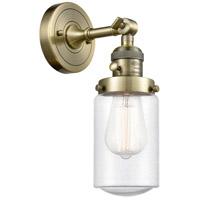 Innovations Lighting 203SW-AB-G314 Dover 1 Light 5 inch Antique Brass Sconce Wall Light Franklin Restoration
