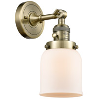 Small Bell LED 5 inch Antique Brass Wall Sconce Wall Light