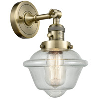 Small Oxford LED 8 inch Antique Brass Wall Sconce Wall Light
