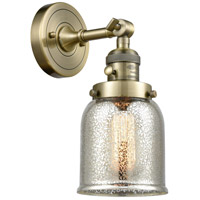 Small Bell 1 Light 5 inch Antique Brass Wall Sconce Wall Light