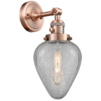 Innovations Lighting 203SW-AC-G165-LED Geneseo LED 7 inch Antique Copper Sconce Wall Light Franklin Restoration